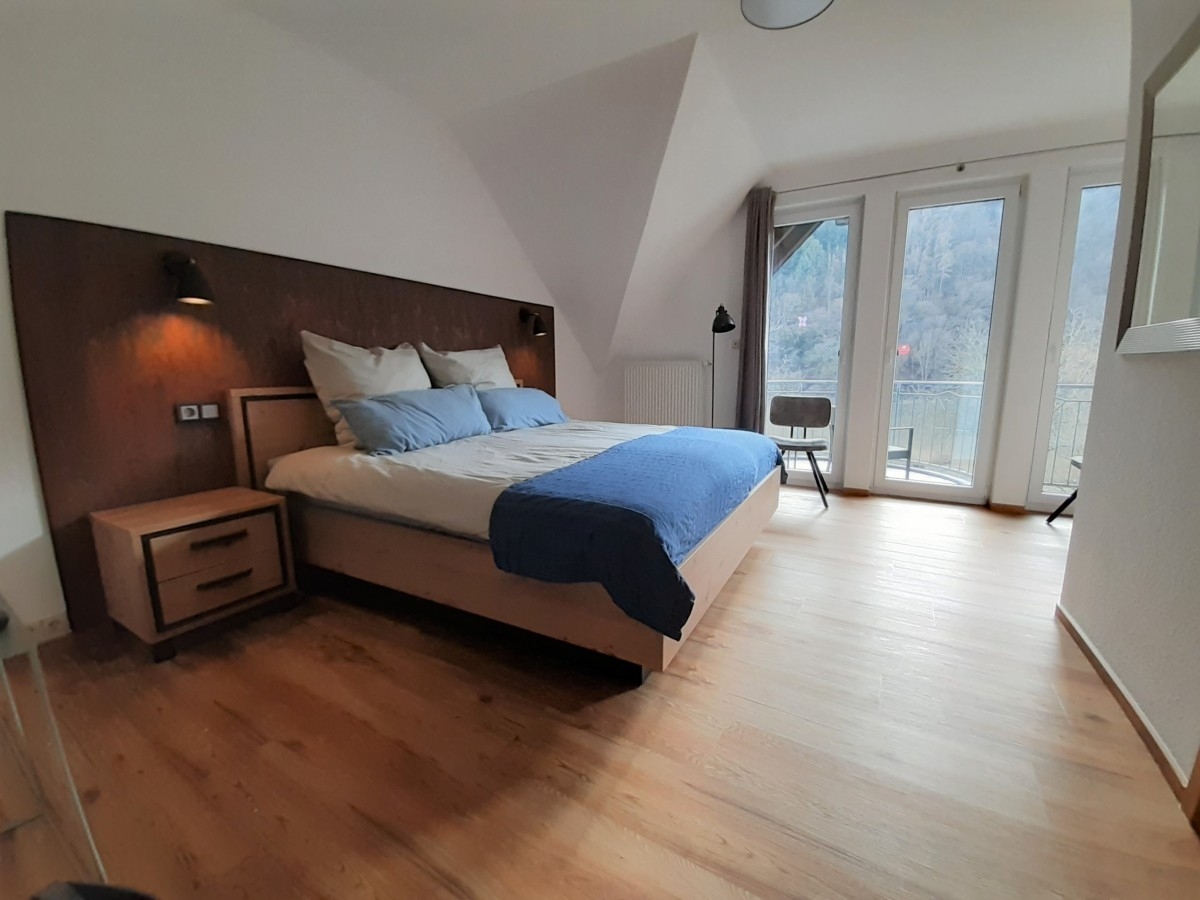 Image of Charming room with balcony and a view of the Moselle