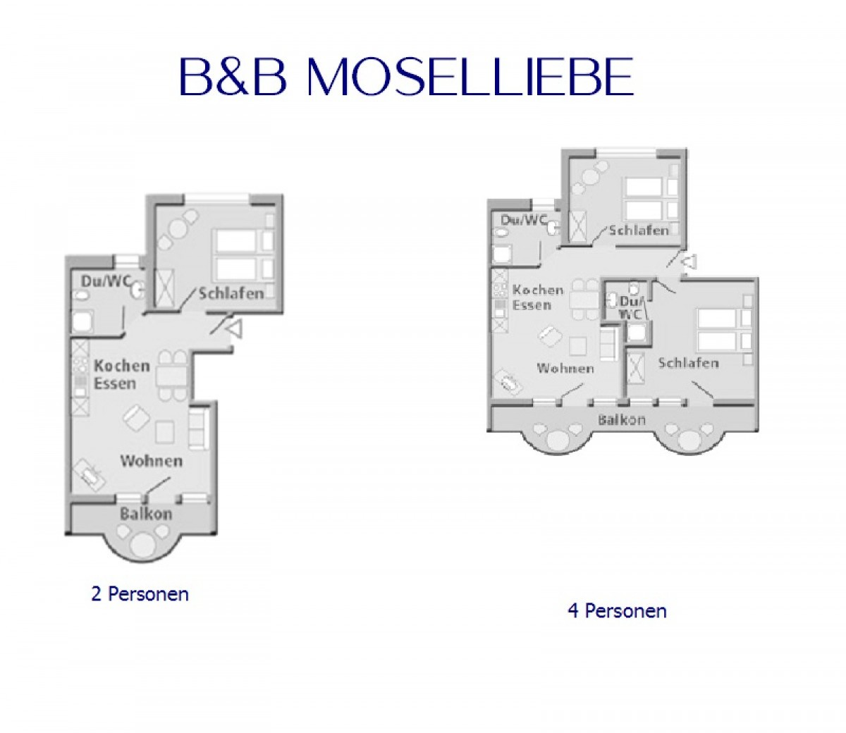 Image of Apartment. 2 pers. 1 bedroom and living room with balcony and view of the Moselle