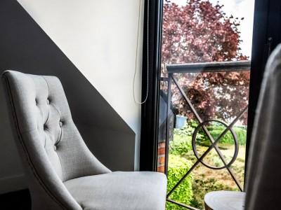 kamer met uitzicht tuin