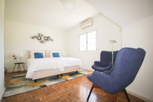 Azul: double room with garden and pool view