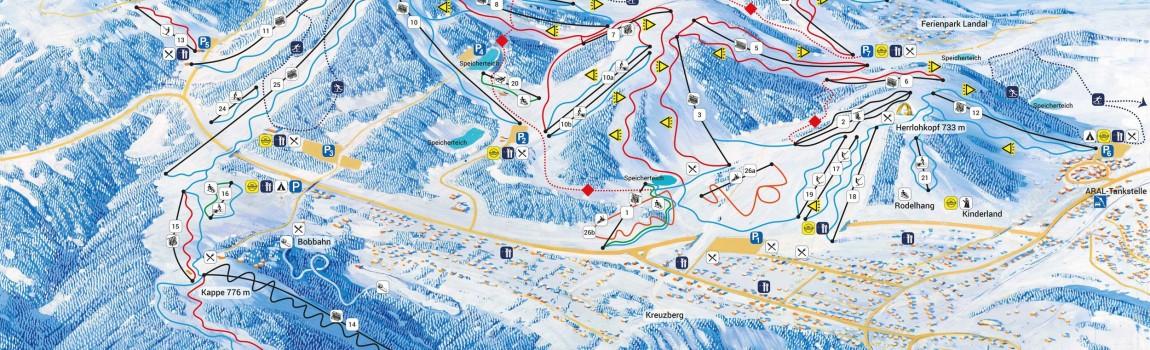 Skien in Winterberg: het grootste en modernste skigebied vlakbij